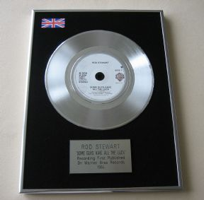 ROD STEWART - SOME GUYS HAVE ALL THE LUCK PLATINUM single presentation DISC